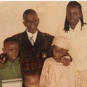 Photos: See funny KennyBlaq's throwback with siblings