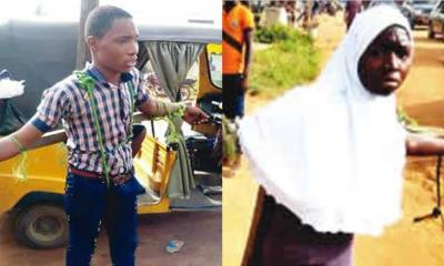 Unbelievable!!! School Proprietor, Principal Ties Students To The Cross And Flog Them For Coming Late To School