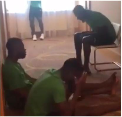 #WorldCupRussia2018: Super Eagles Sing Worship Songs in Hotel Room [Watch Video]