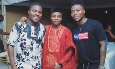 """The 3 Sons Of My Father"" – Reekado Banks Shows Off His Two Cute Brothers."