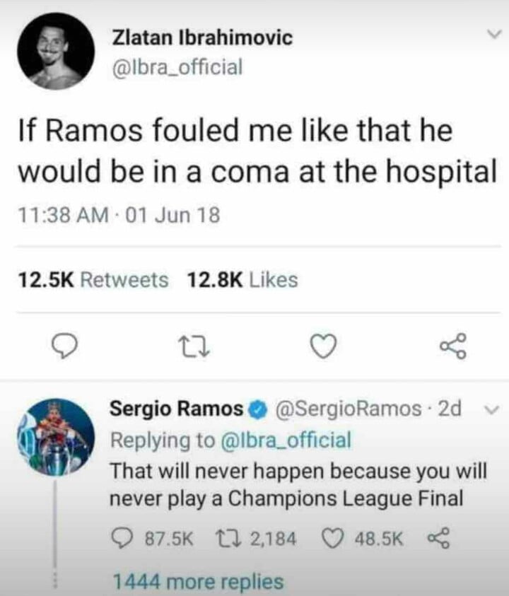 "Ibrahimovic and Ramos play ""Champions League final"" off the field"