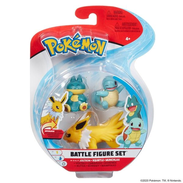 Munchlax, Squirtle and Jotleon Battle Figure