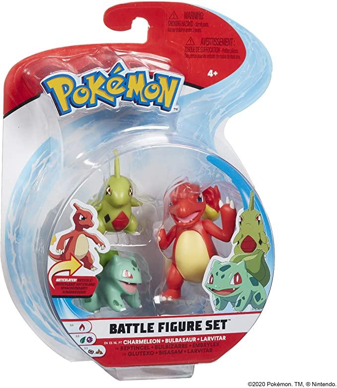 Larvitar, Bulbasaur and Charmeleon Battle Figure
