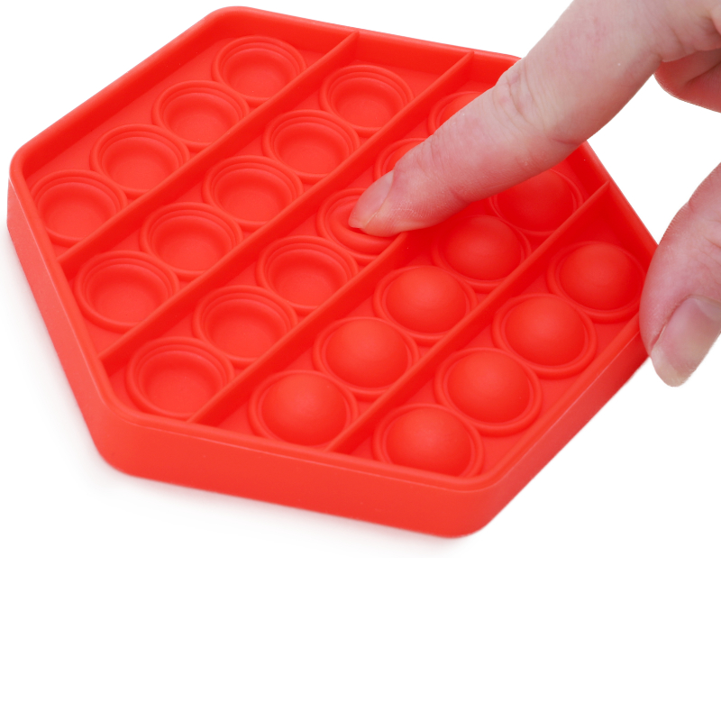 Stress Pop and Play Hexagon (Assorted colour)