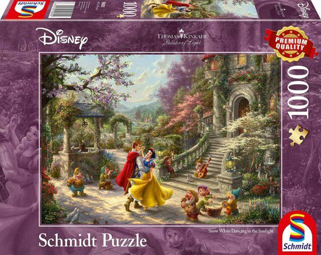 Disney 1000pc Dancing Prince Thomas Kinkade Puzzle (Snow White)