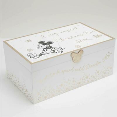 DISNEY MICKEY CHRISTMAS-EVE BOX - GOLD & WHITE