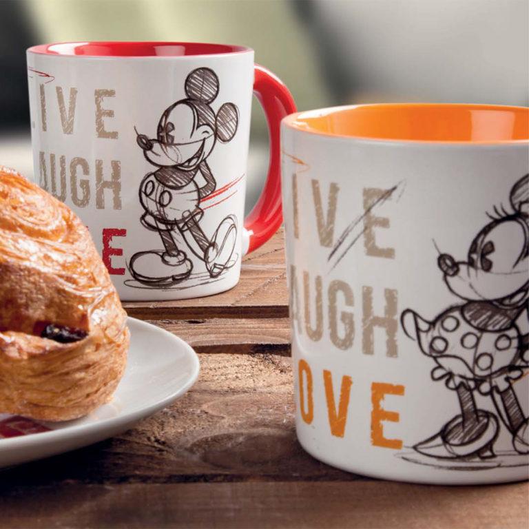 Mug Mickey Live Laugh Love Orange - Disney Home