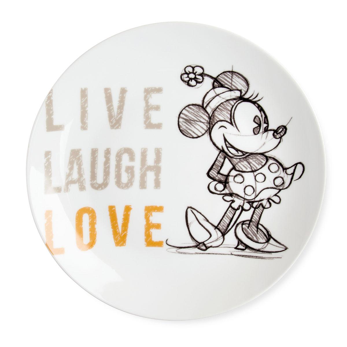Serving Plate Minnie Orange Live Laugh Love