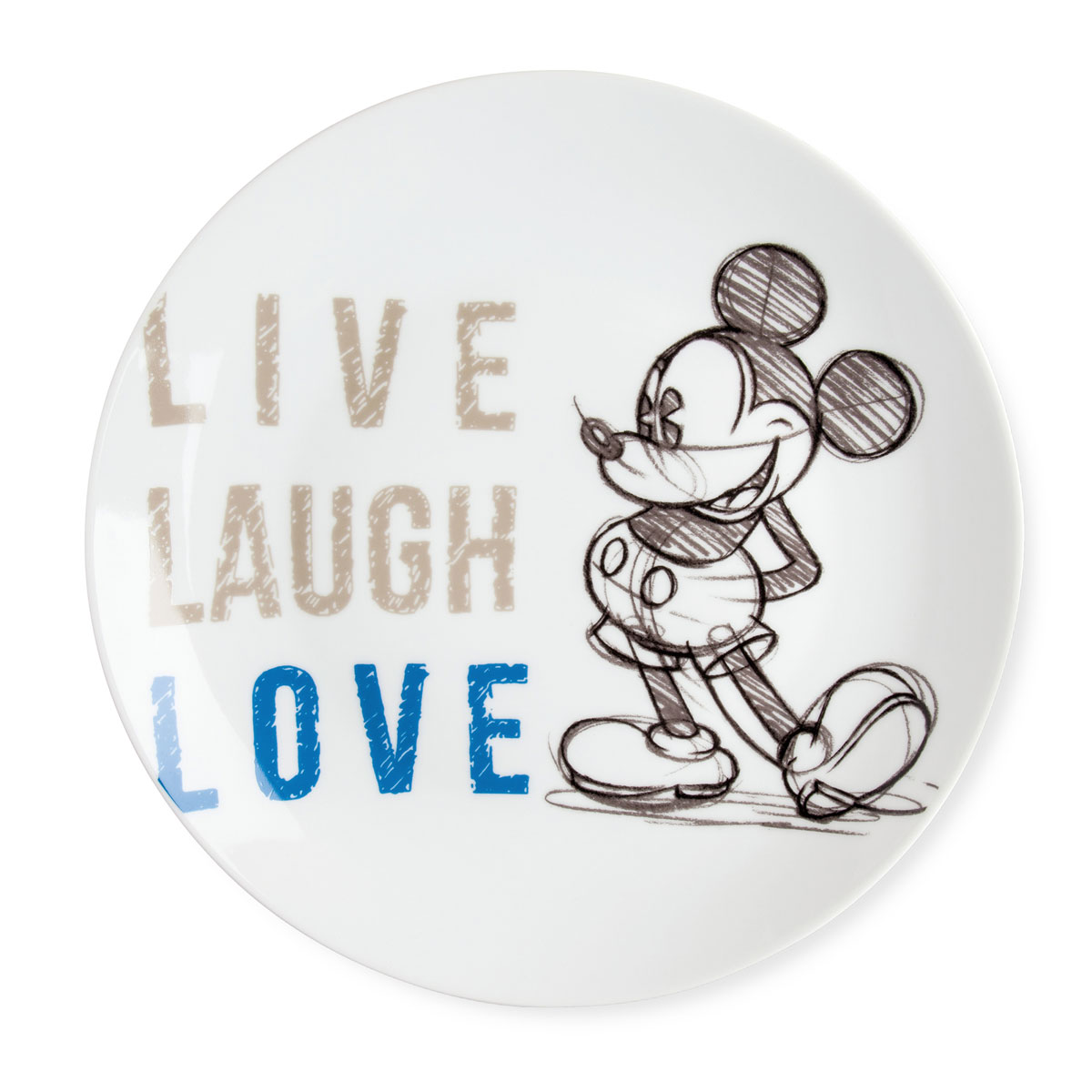 Serving Plate Mickey Blue Live Laugh Love