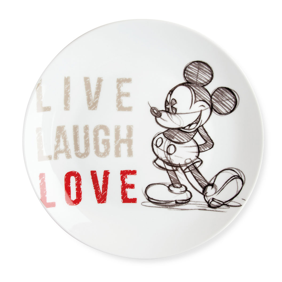 Serving Plate Mickey Red Live Laugh Love