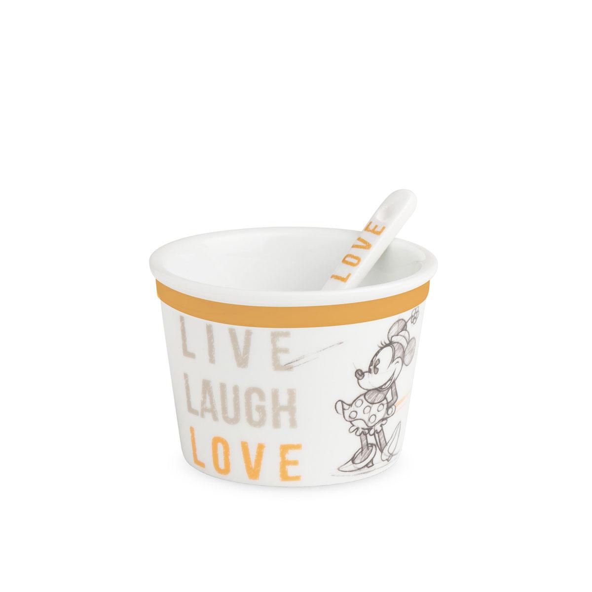 Ice Cream Cup Minnie With Spoon Live Laugh Love Orange