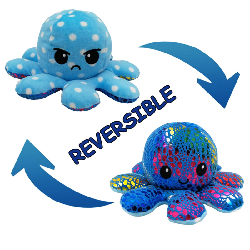 Colourful Blue Reversible Octopus