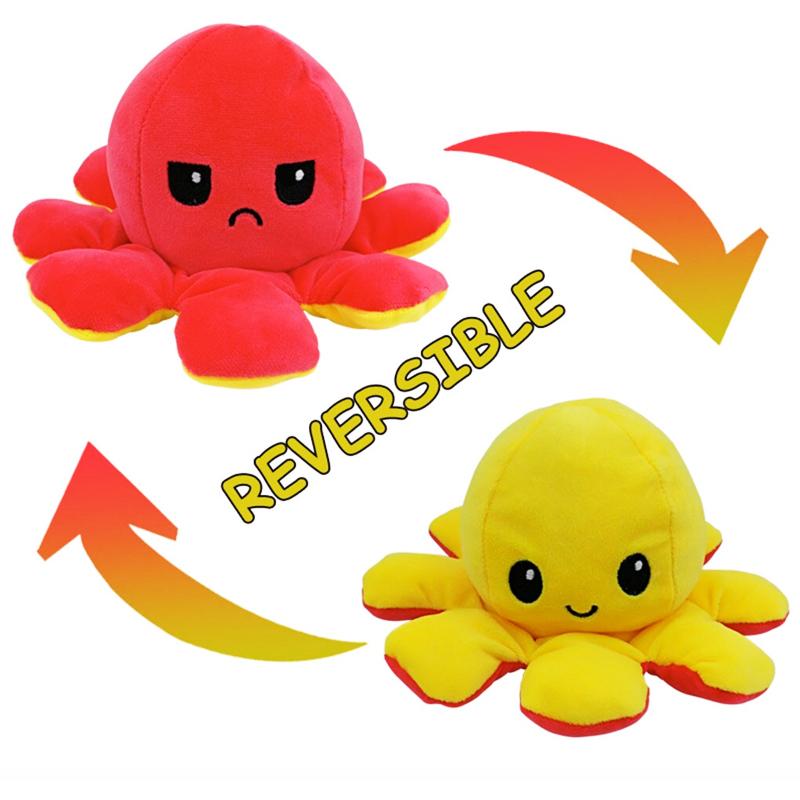 Pink & Yellow Reversible Octopus