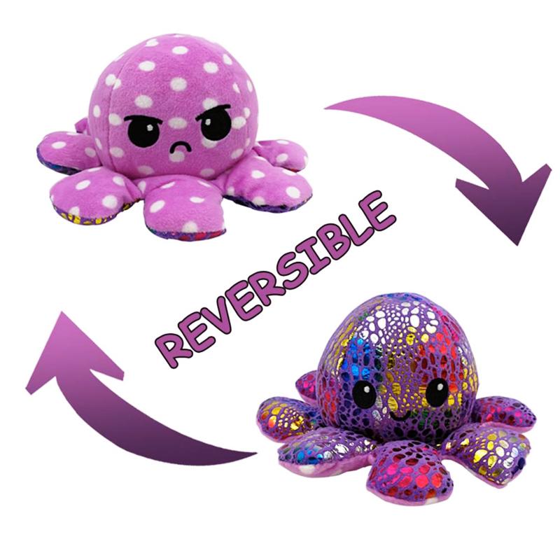 Colourful Purple Reversible Octopus