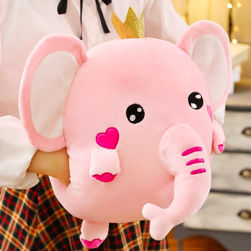 Soft Kawaii Elephant Plush