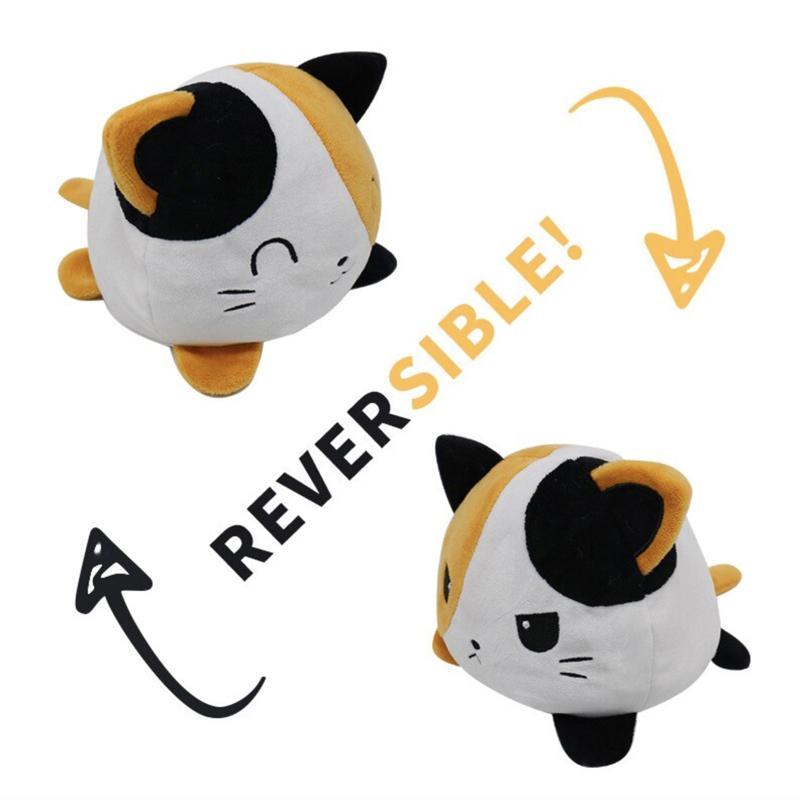 Reversible Cat Plush Toy