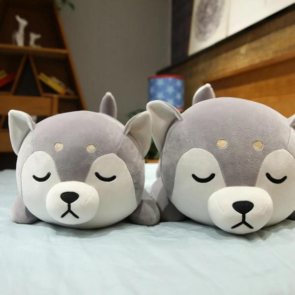 Stuffed Husky Dog Plush Toy