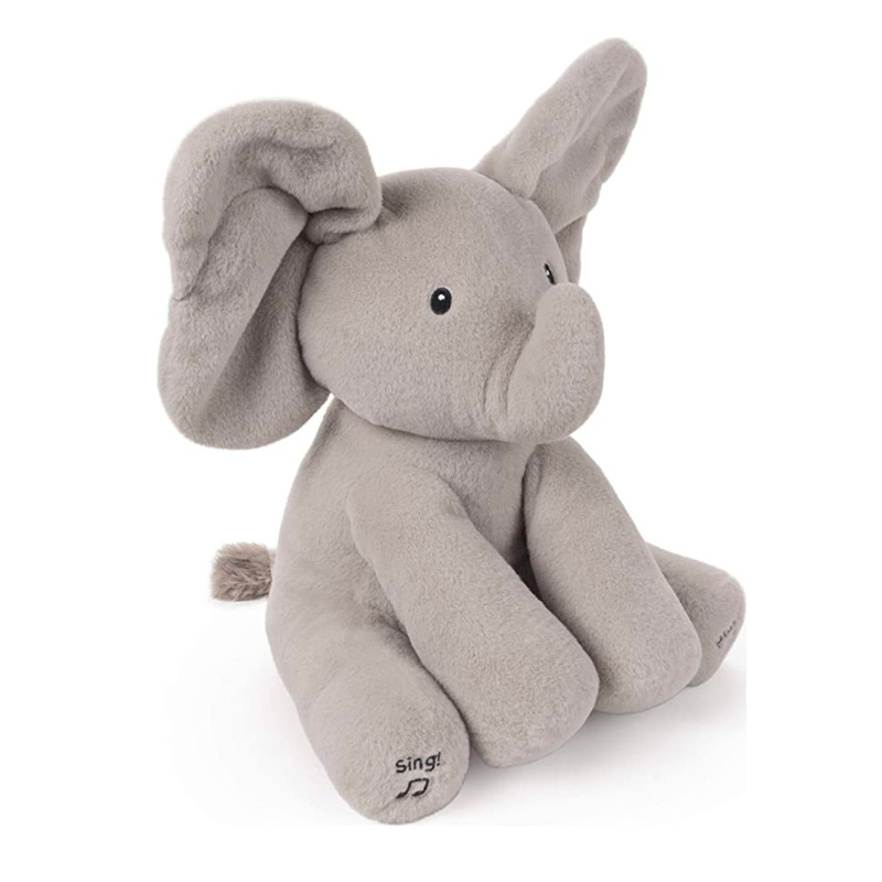 Singing Flappy Peek-a-boo Elephant Plush Toy