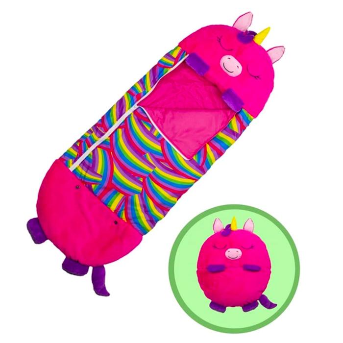 Pink Peach 3 in 1 Sleeping Bag Plush Toy