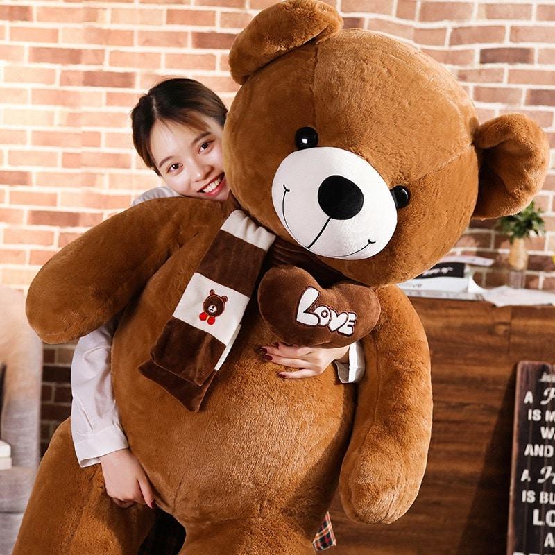 Brown Stuffed Teddy Bear Plush Toy - I Love You