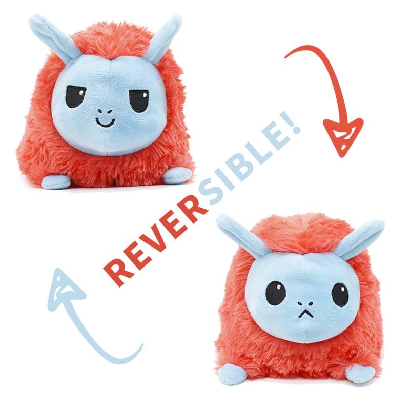Reversible Emotional Alpaca Plush Toy
