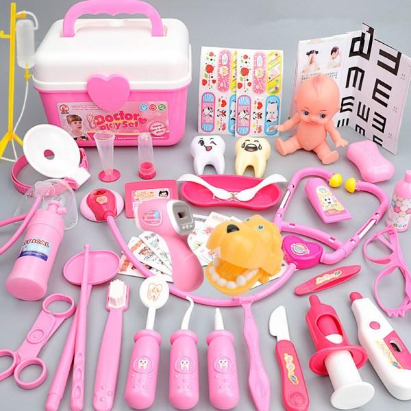 Pink Medical Kit Doctor Play Set for Kids