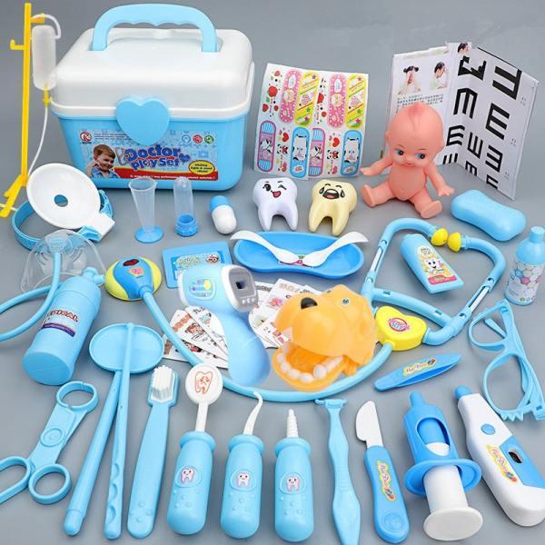 Blue Medical Kit Doctor Play Set