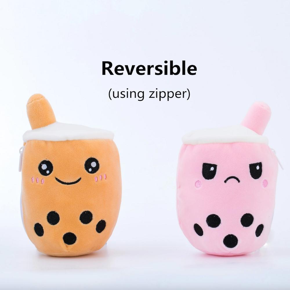 Reversible Mood Boba Plush