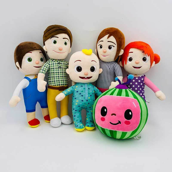 Stuffed Cocomelon JJ Family Plush Dolls