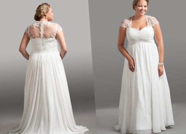 Plus Size Chiffon Wedding Dresses