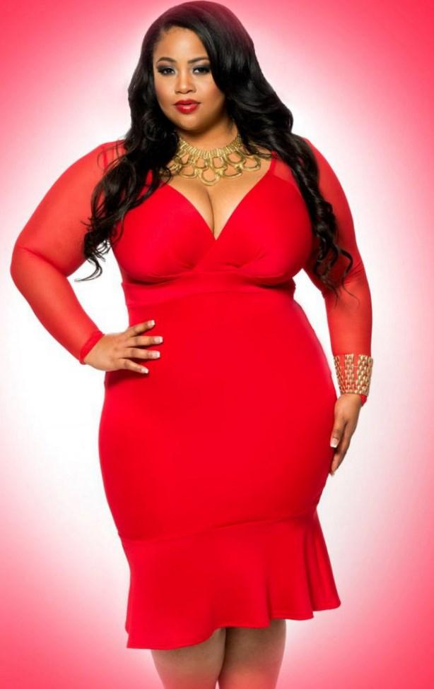 Plus Size Red Sexy Dress PlusLookeu Collection