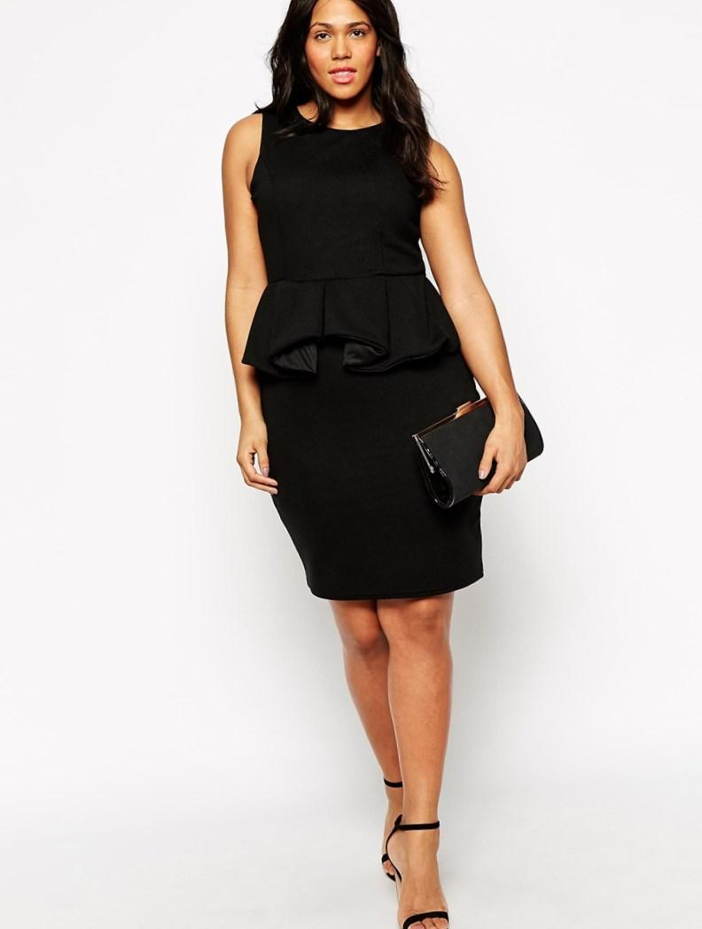 Peplum Plus Size Dress Chic And Stylish Completed With