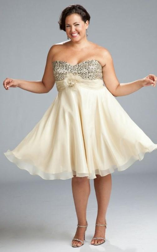 Plus Size Gold Prom Dresses PlusLookeu Collection