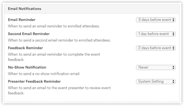 Email Notifications Settings