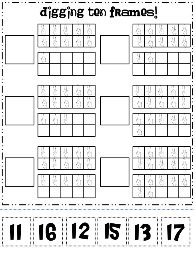 Blank Ten Frames Sheet | Frameviewjdi.org