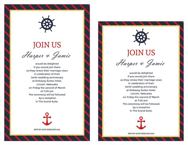 Invitation Clic Nautical Vow Renewal Png