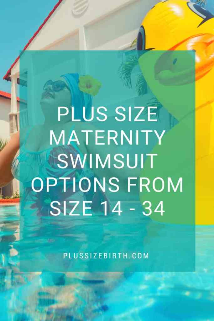 Plus Size Maternity Swimsuit Options From Size 14 - 34