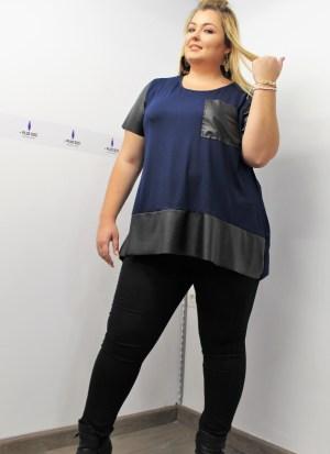 Παντελόνι ελαστικό πεντάτσεπο μαύρο με λάστιχο στην μέση