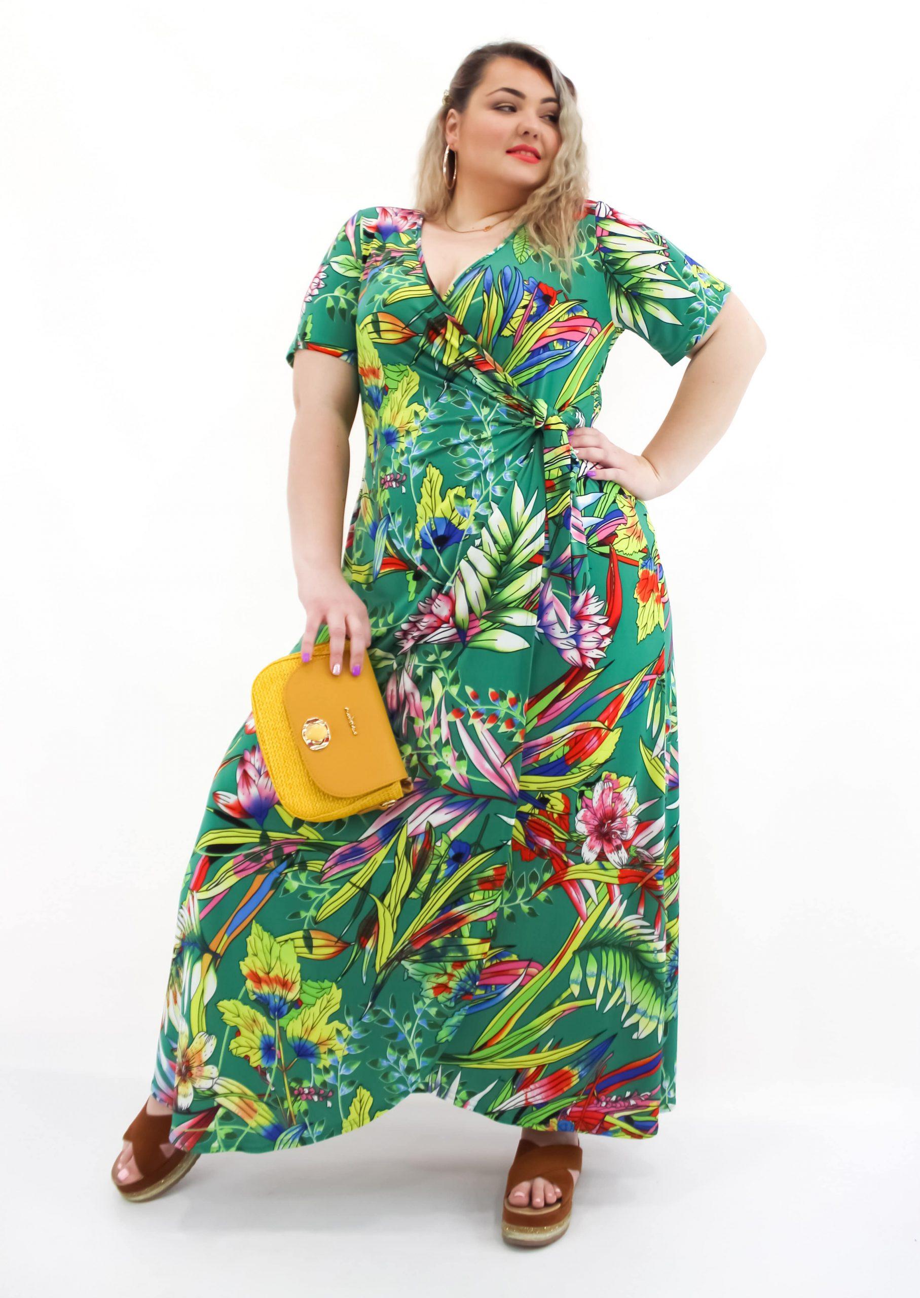 Φόρεμα κρουαζέ μαγιόπανο εμπριμέ σε 2 χρώματα