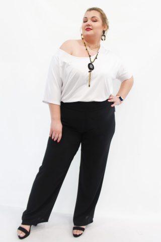 Παντελόνα μεγάλα μεγέθη δροσερή +Psx ψηλόμεση με λάστιχο στην μέση. Στο eshop μας θα βρείτε οικονομικά γυναίκεια ρούχα σε μεγάλα μεγέθη και υπερμεγέθη.