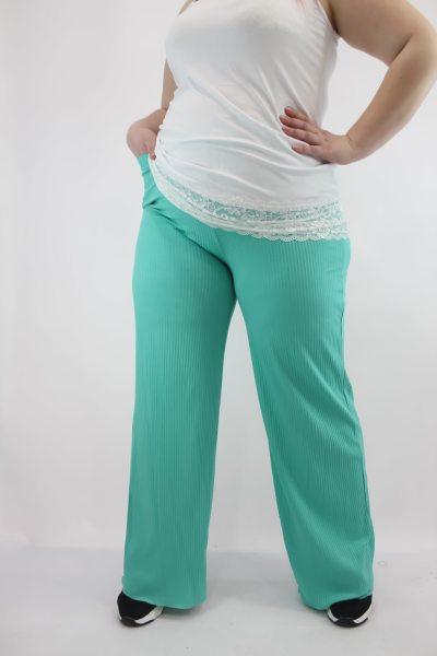 Παντελόνα με ανάγλυφη ρίγα και λάστιχο στη μέση