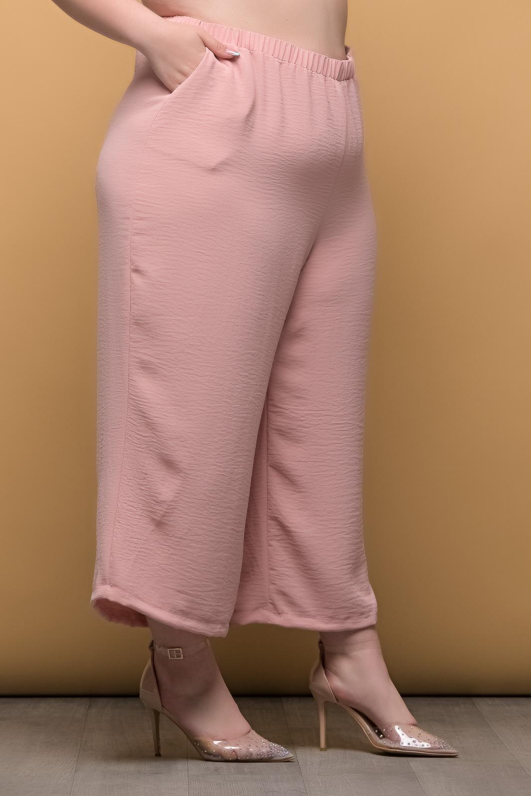 Ζιπ κιλοτ μεγάλα μεγέθη σομόν ανάλαφρη με λάστιχο στη μέση.Στο eshop μας θα βρείτε οικονομικά γυναίκεια ρούχα σε μεγάλα μεγέθη και υπερμεγέθη.