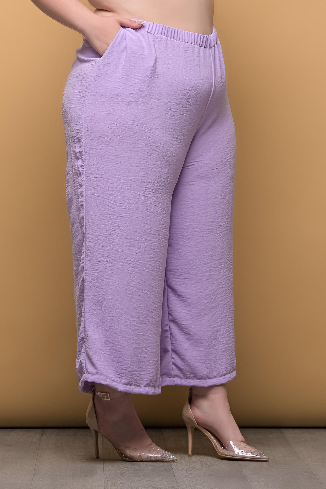 Ζιπ κιλοτ μεγάλα μεγέθη λιλά ανάλαφρη με λάστιχο στη μέση.Στο eshop μας θα βρείτε οικονομικά γυναίκεια ρούχα σε μεγάλα μεγέθη και υπερμεγέθη.
