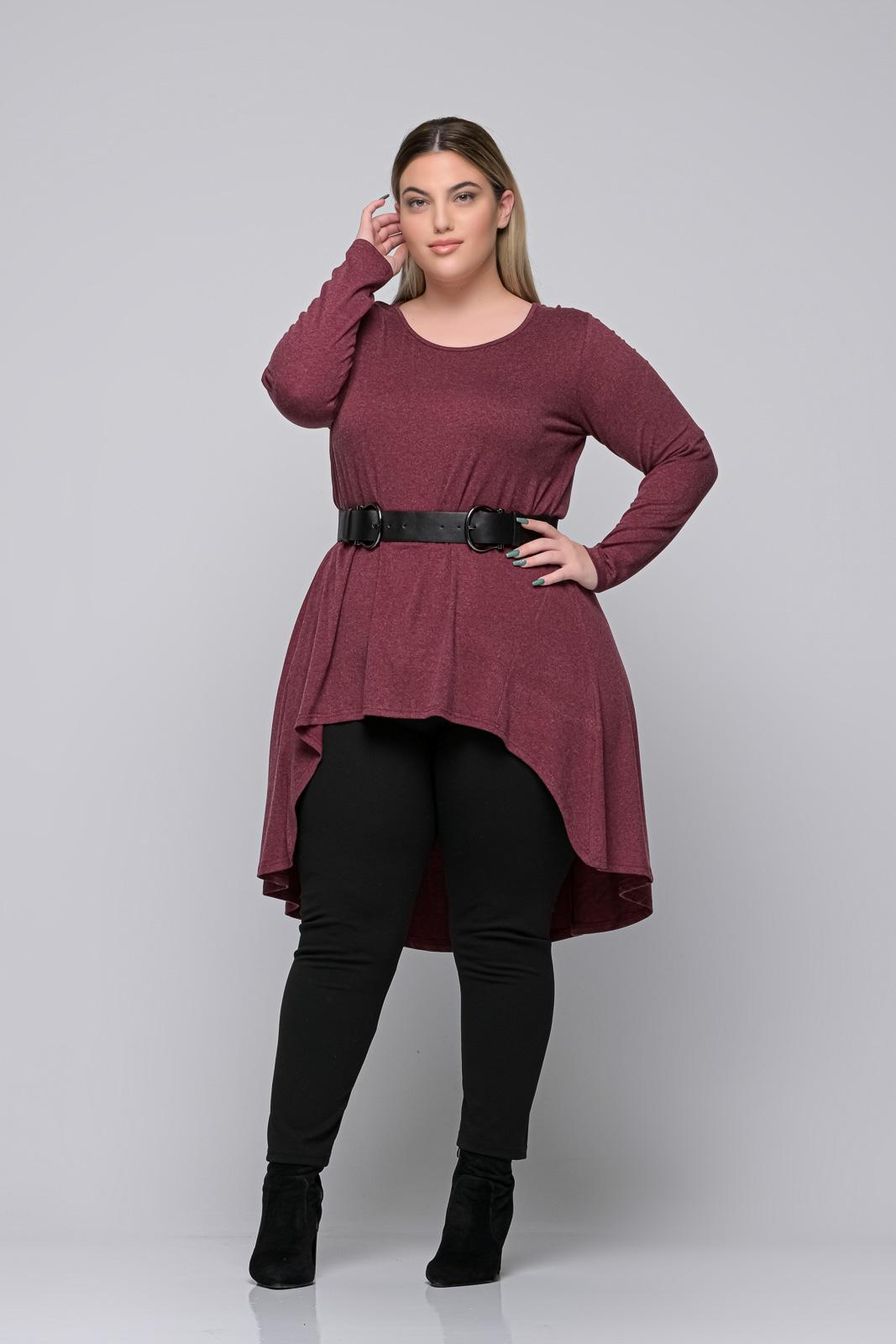 Μπλούζoφόρεμα +Psx μπορντό ελαστική βισκόζ . Στο eshop μας θα βρείτε οικονομικά γυναίκεια ρούχα σε μεγάλα μεγέθη και υπερμεγέθη.