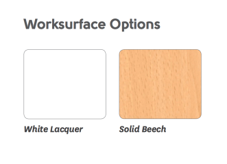 Blaze worksurface options