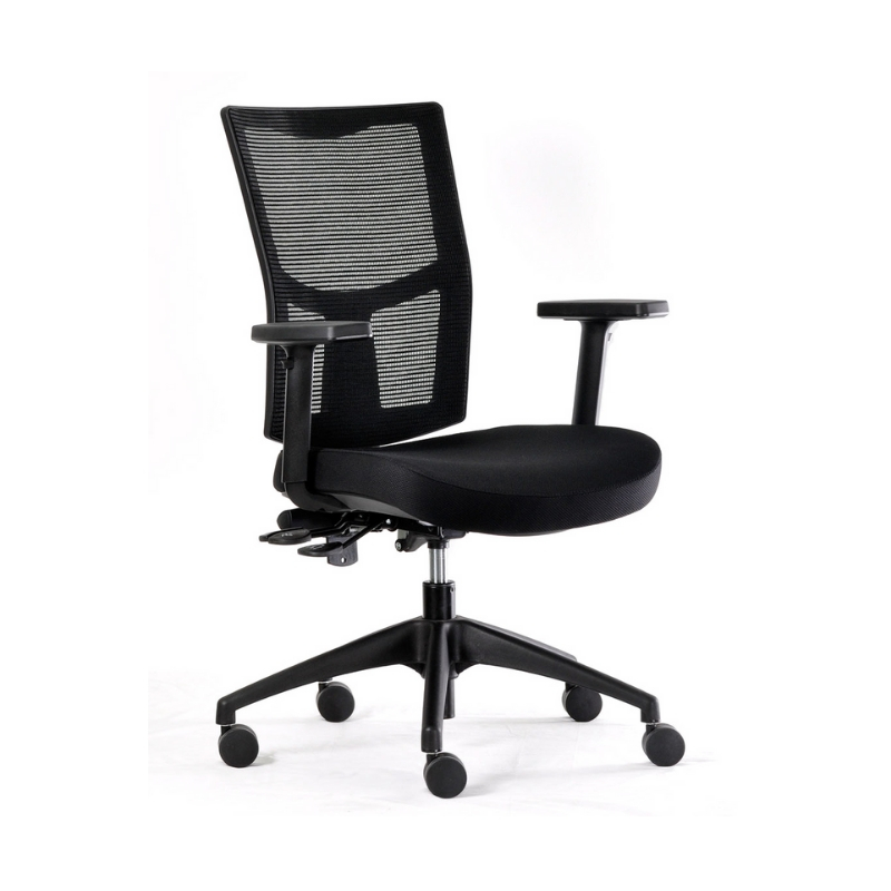 WHIRL Task chair with arms, nylon base