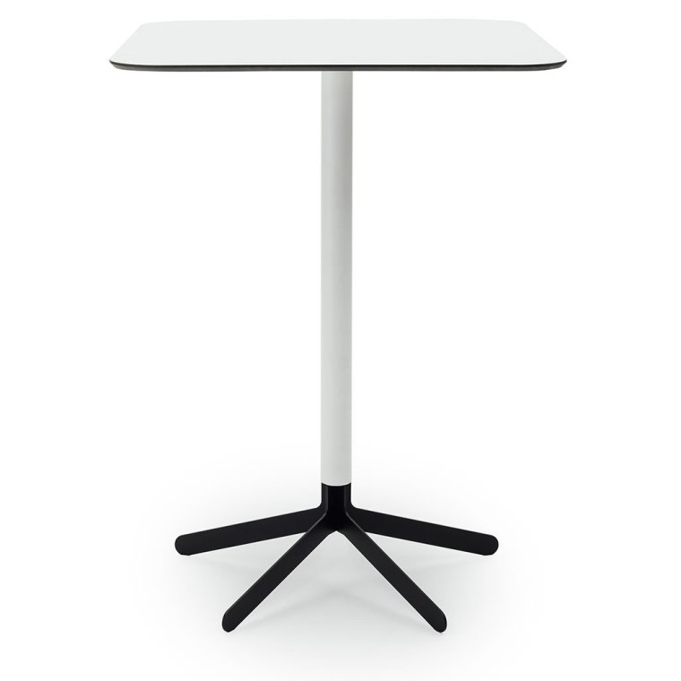 S17 Bar Table White top black base
