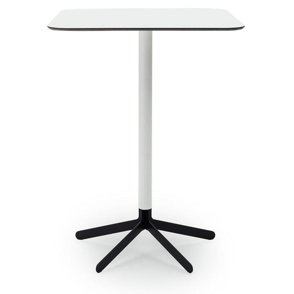 S17 Bar Table White top black base