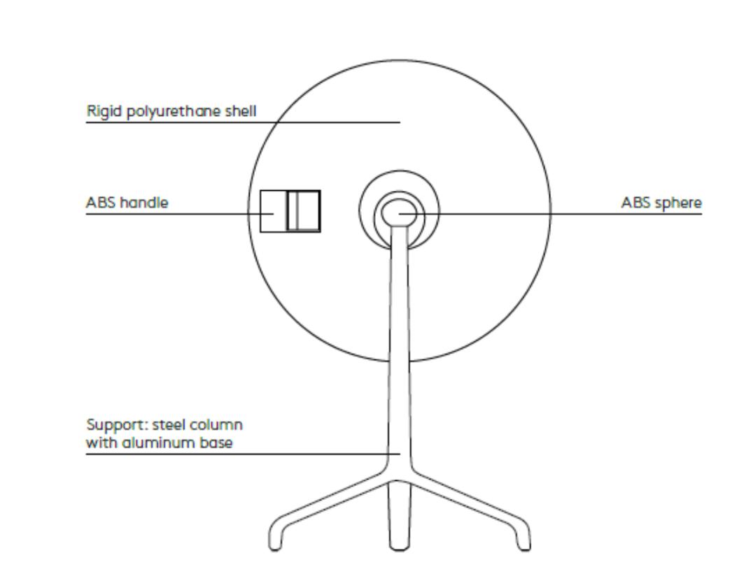 Uma Round back Plus Workspace