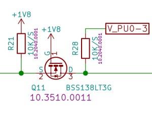 BSS138 Voltage level circuit